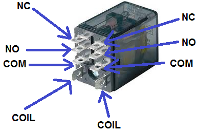 Dpdt Relay Real Life Component Wiring Setup on Relay Wiring Diagram 5 Pole